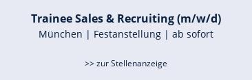 Key Account Manager (m/w/d) München | Festanstellung | ab sofort  >> zur Stellenanzeige