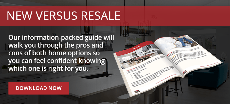 Click to download the New Home Versus Resale Guide now!