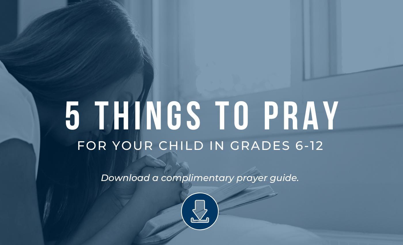 Prayer Guide-Grades 6-12