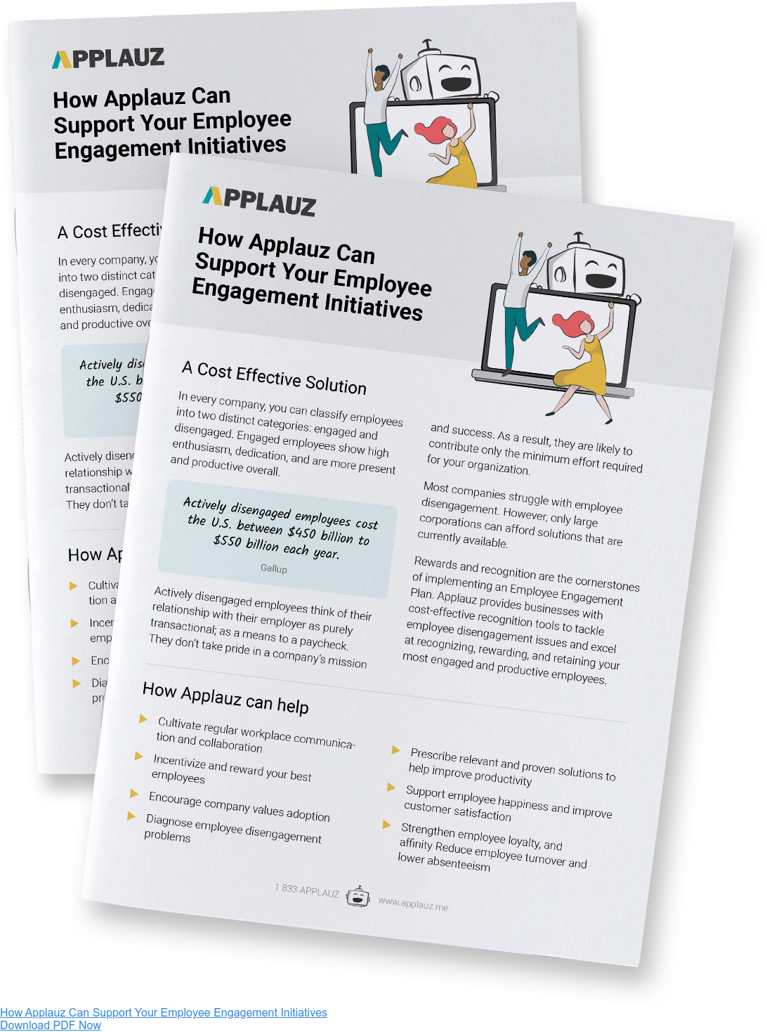 How can Applauz support your employee engagement initiatives - Download PDF Guide
