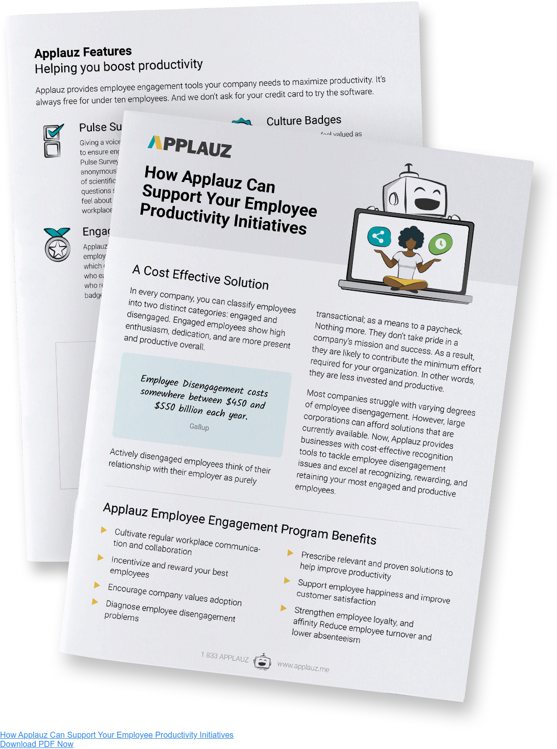 Learn how Applauz can support your employee productivity initiatives - Download PDF Guide