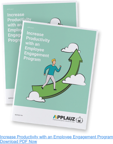 Increase productivity with an employee engagement program - Download PDF Guide