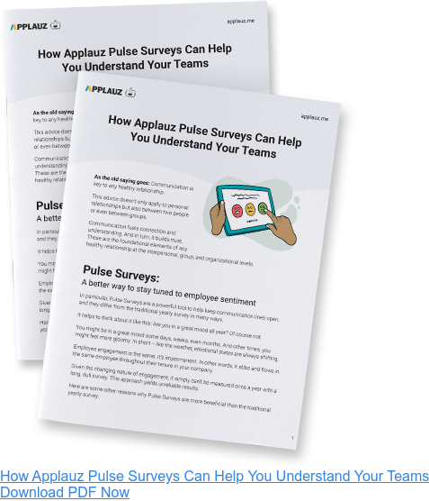 How Applauz Pulse Surveys Can Help You Understand Your Teams Download PDF Now