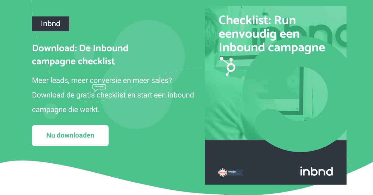 Download de inbound campagne checklist | Inbnd