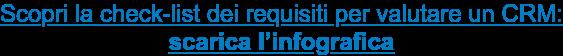 Scopri la check-list dei requisiti per valutare un CRM: scarica l'infografica