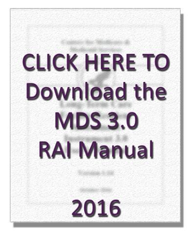 MDS 3.0 RAI Manual