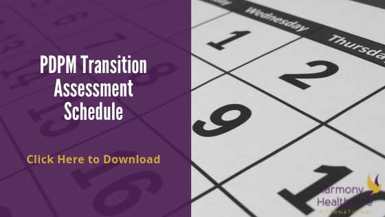 PDPM Transition Schedule 2019