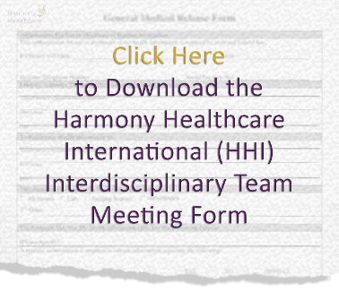 HHI Interdisciplinary Team Meeting Form