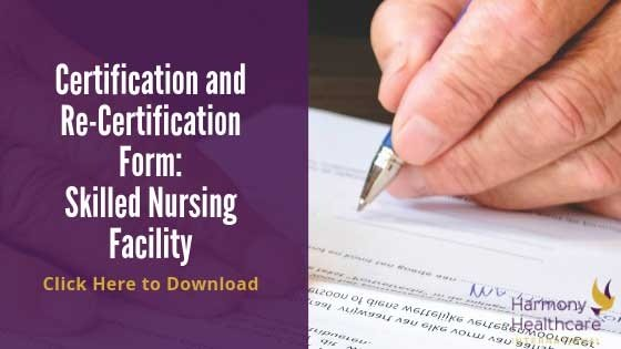Certification Form Skilled Nursing