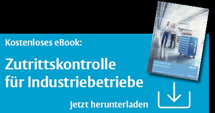 """Kostenloses E-Book """"Zutrittskontrolle für Industrie"""" jetzt herunterladen"""