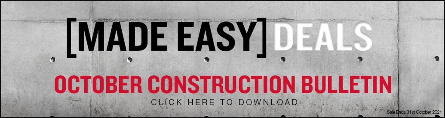 MADE EASY DEALS - October Construction
