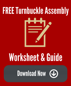 Steel Supply Co. provides a free Turnbuckle Assembly Worksheet & Guide