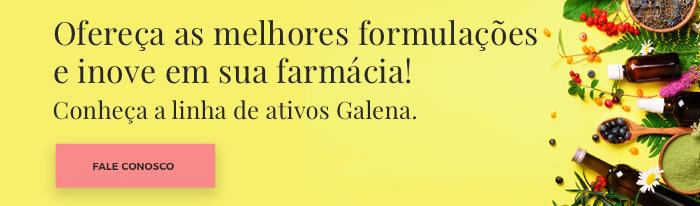 Ofereça as melhores formulações e inove em sua farmácia de manipulação - Conheça os ativos Galena