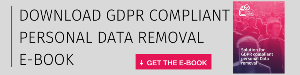 Solution for GDPR Compliant Data Removal