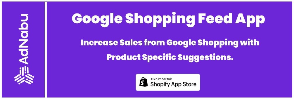 Easy Google shopping feed Shopify app banner
