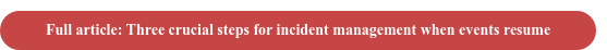 Full article: Three crucial steps for incident management when events resume