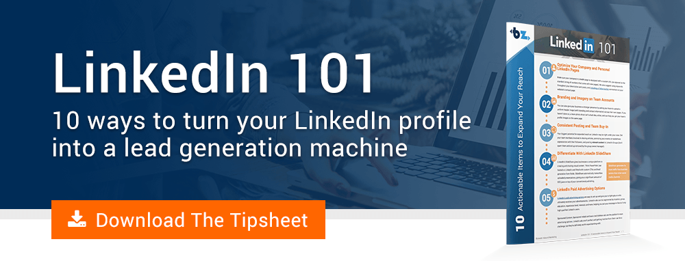 Download the LinkedIn tipsheet