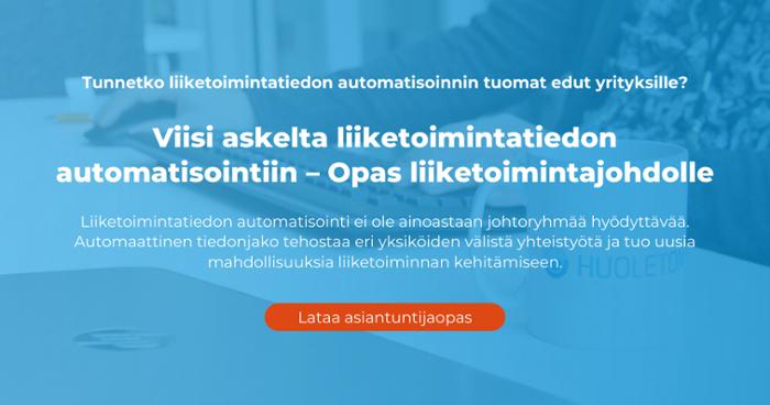 Viisi askelta liiketoimintatiedon automatisointiin – Opas liiketoimintajohdolle