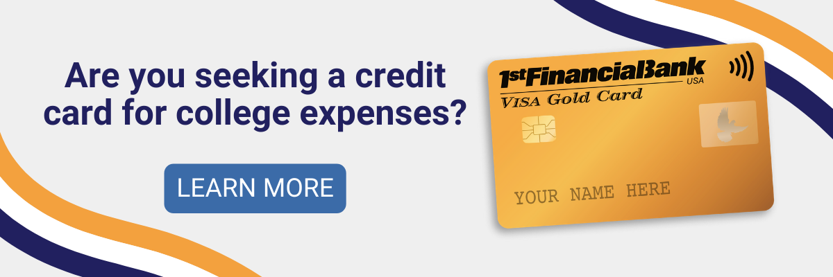 apply for a credit card for college expenses from 1st financial bank usa