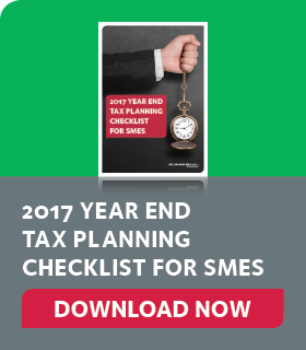 2017 Year End Tax Planning Checklist for SMEs