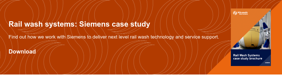Rail wash systems: Siemens case study  Find out how we work with Siemens to deliver next level rail wash technology  and service support. Download