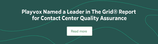 Playvox Named a Leader in The Grid Report for Contact Center Quality Assurance
