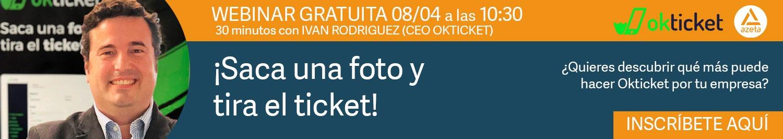 Webinar gratuita Okticket con Grupo Azeta