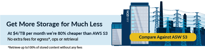 Compare pricing with AWS S3