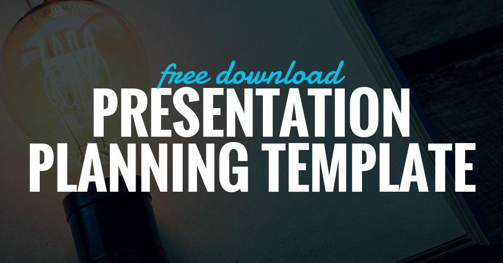 Presentation Planning Template