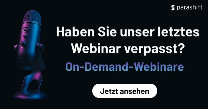 Parashift On-Demand-Webinare