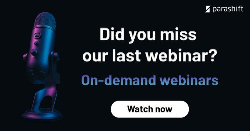 Parashift On-demand webinars