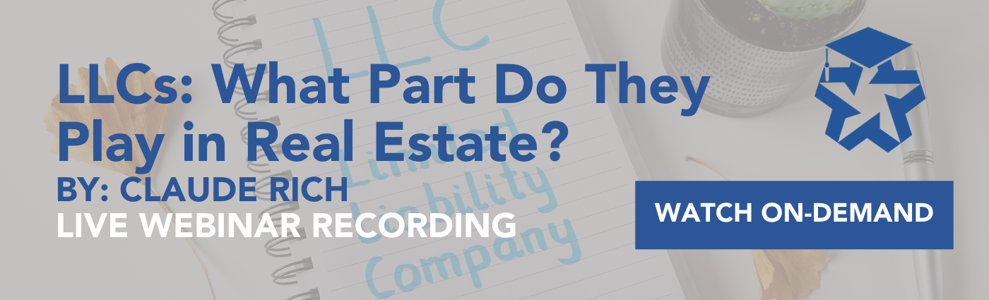LLCs: What Part Do They Play in Real Estate