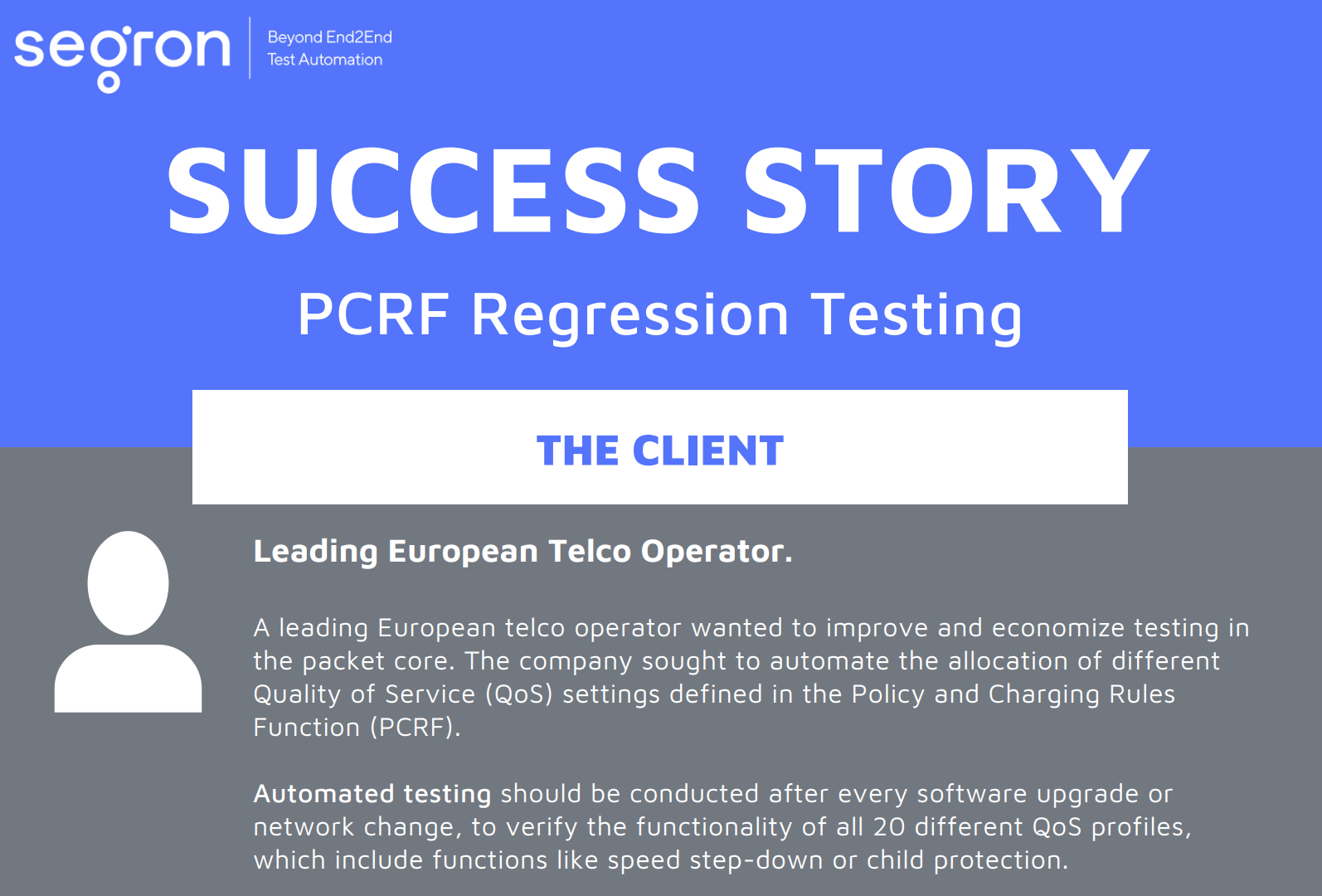 Learn more about PCRF regression testing automation