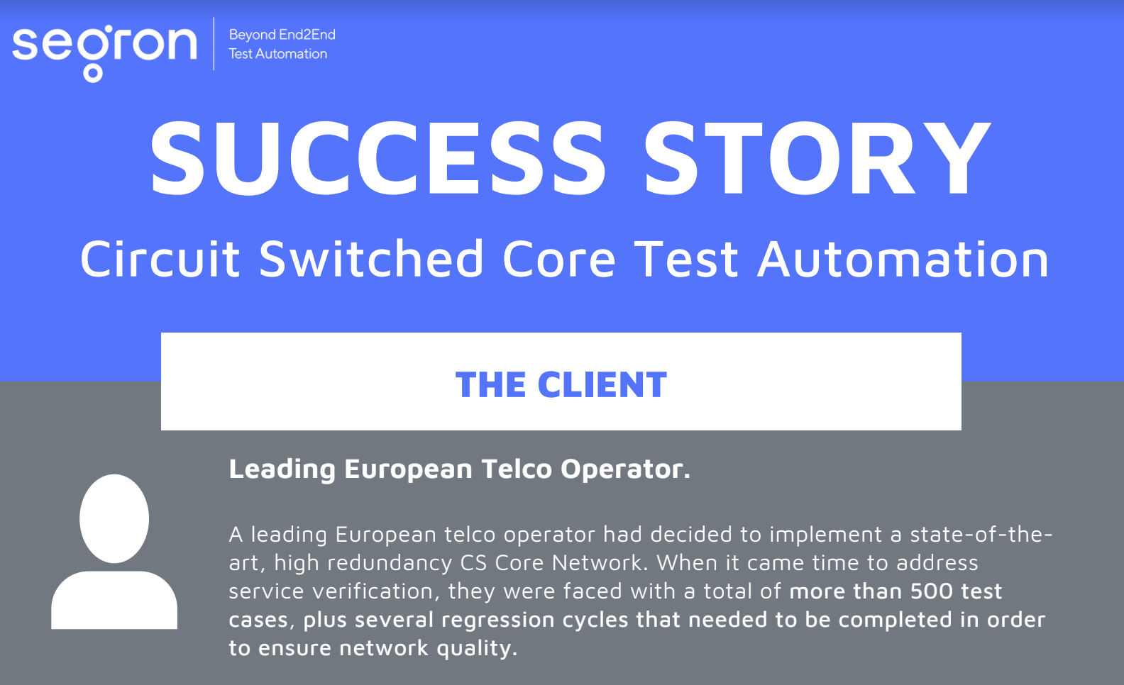 Learn more about circuit switched core test automation