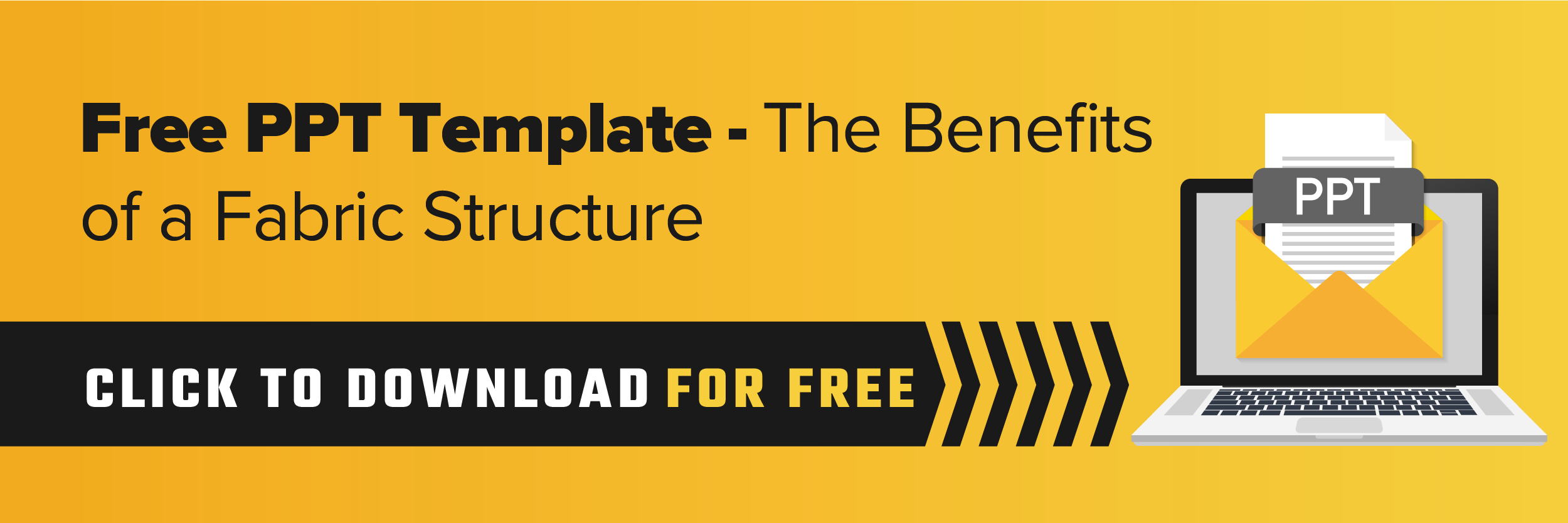 Free PowerPoint Template - The Benefits of a Fabric Structure