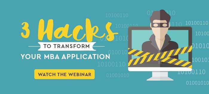3 Hacks to Transform Your MBA Application! Register today!