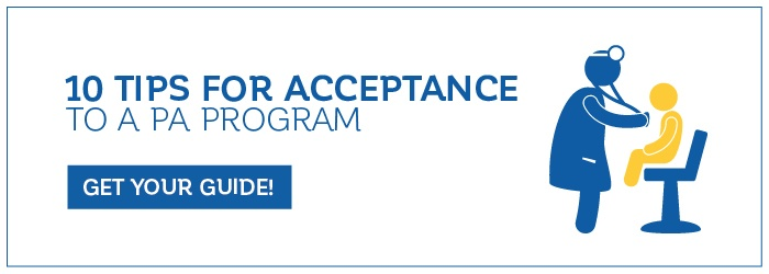 10 Tips for Acceptance to a PA program - download your cheat sheet today!