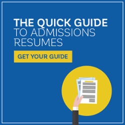 Download your guide to admissions resumes today!