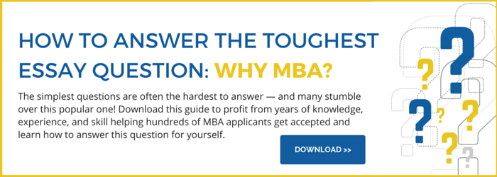 Tip for answering the MBA goals essay