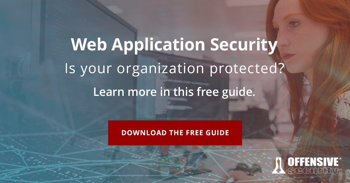 Download the Web Application Security Guide!