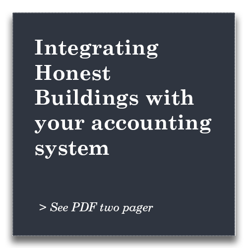 Integrating Honest Buildings with your accounting system