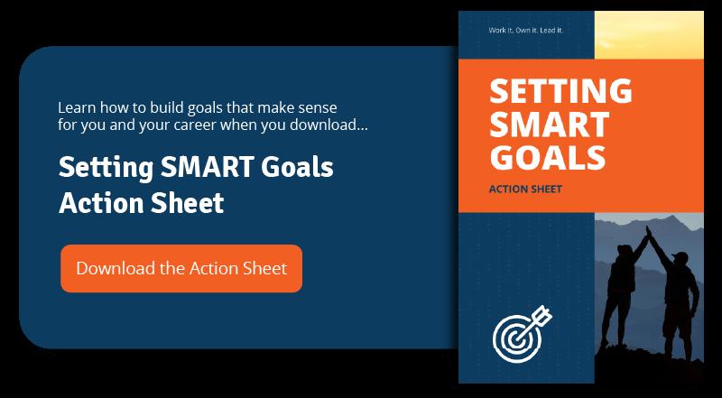 setting smart goals action sheet