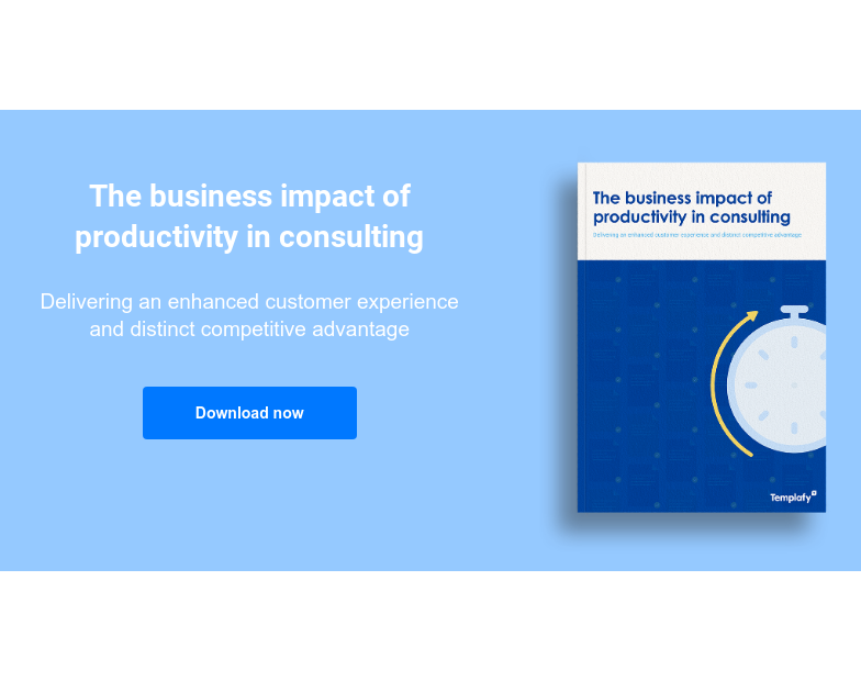 The business impact of productivity in consulting  Delivering an enhanced customer experience and distinct competitive advantage Download now