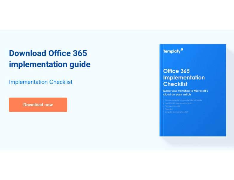 Download Office 365 implementation guide  Implementation Checklist Download now