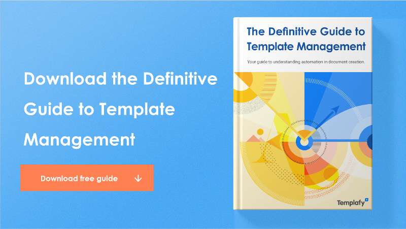Download the Definitive Guide to Template Management