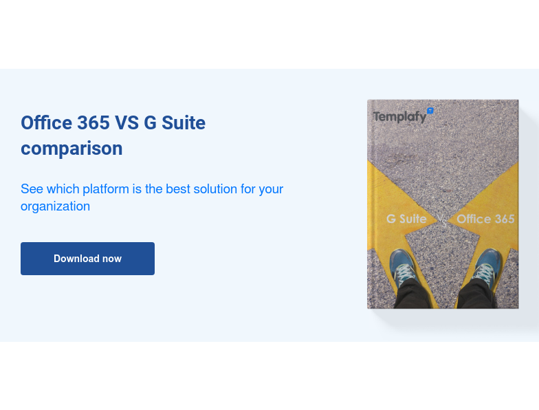 f  Office 365 VS G Suite comparison  See which platform is the best solution for your organization Download now