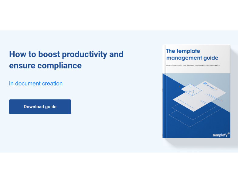 How to boost productivity and ensure compliance  in document creation Download guide