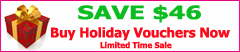 Holiday Voucher Sale Save $46