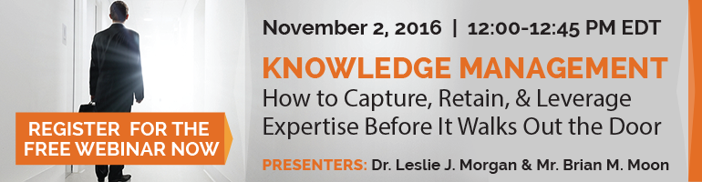 free webinar nov 2 how to capture retain and leverage expertise