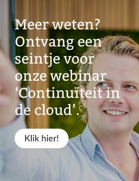 Webinar Continuïteit in de cloud